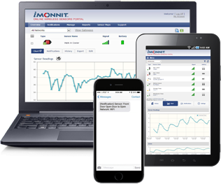 Monnit Online Remote Monitoring Software with Text Message, Email or Phone Call Alerts