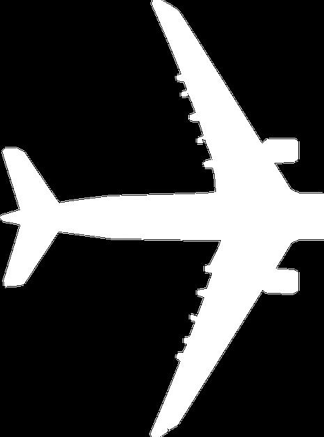 Partial 747 airplane silhouette