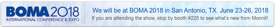 We will be at BOMA in San Antonio, TX, June 23-26, 2018. If you are a partner or customer and would like to schedule a meeting with us email info@monnit.com