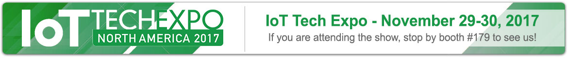 We will be at IoT Tech Expo in Santa Clara, November 29-30, 2017. If you are a partner and would like to schedule a meeting with us email info@monnit.com