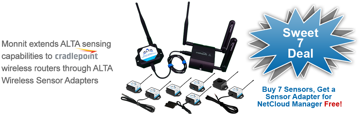 Monnit Wireless Sensor Solutions for Cradlepoint Edge Routers