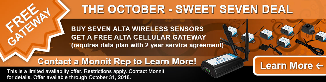 Monnit Monthly Web Special - October 2018