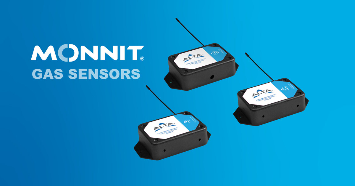Monnit's 3 new gas sensors