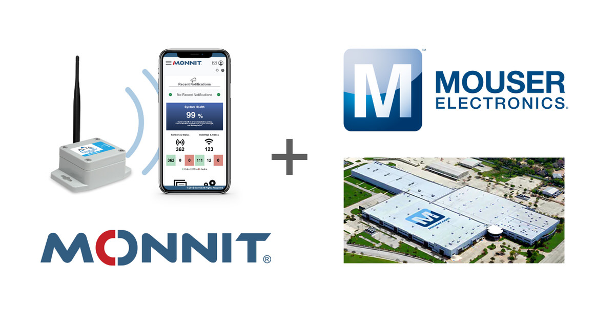 Logos of Monnit Corporation and Mouser Electronics, Inc.