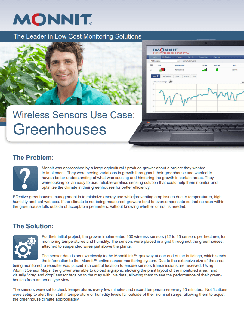 Monnit Greenhouse Use Case Paper