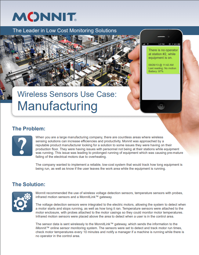 Monnit Manufacturing Use Case Paper