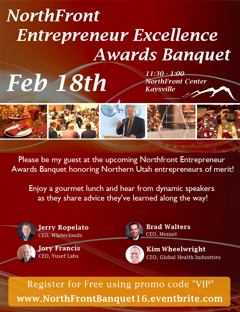 NorthFront Awards Banquet Invitation