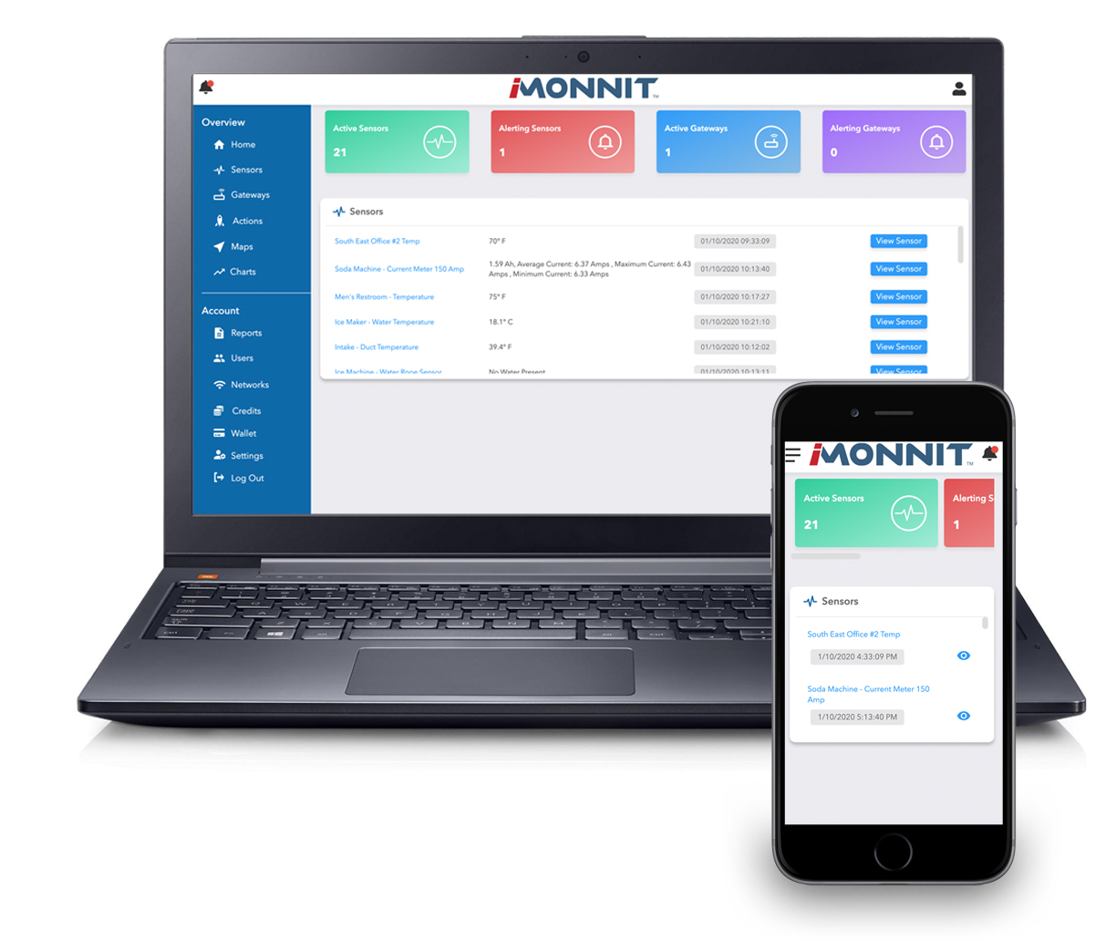 iMonnit Premiere - Online Sensors Monitoring Software