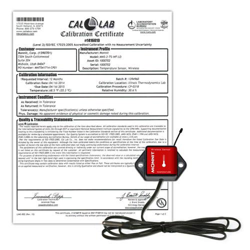 Monnit NIST Certified Sensor