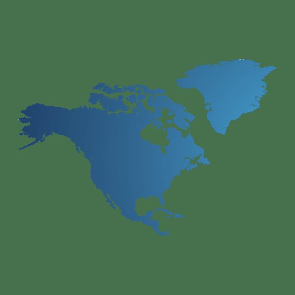 North America partner map