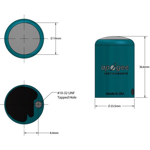 wireless PAR light meter element dimensions