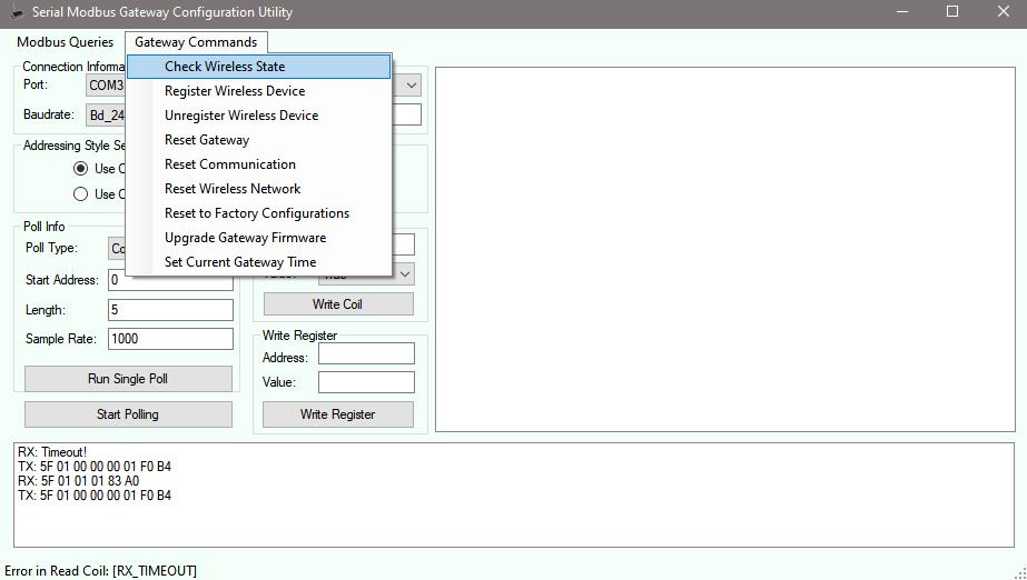 RX Timeout! error - Check Wireless State