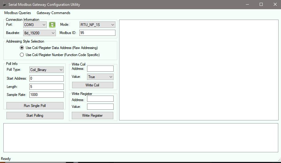 Serial Modbus Gateway Configuration Utility