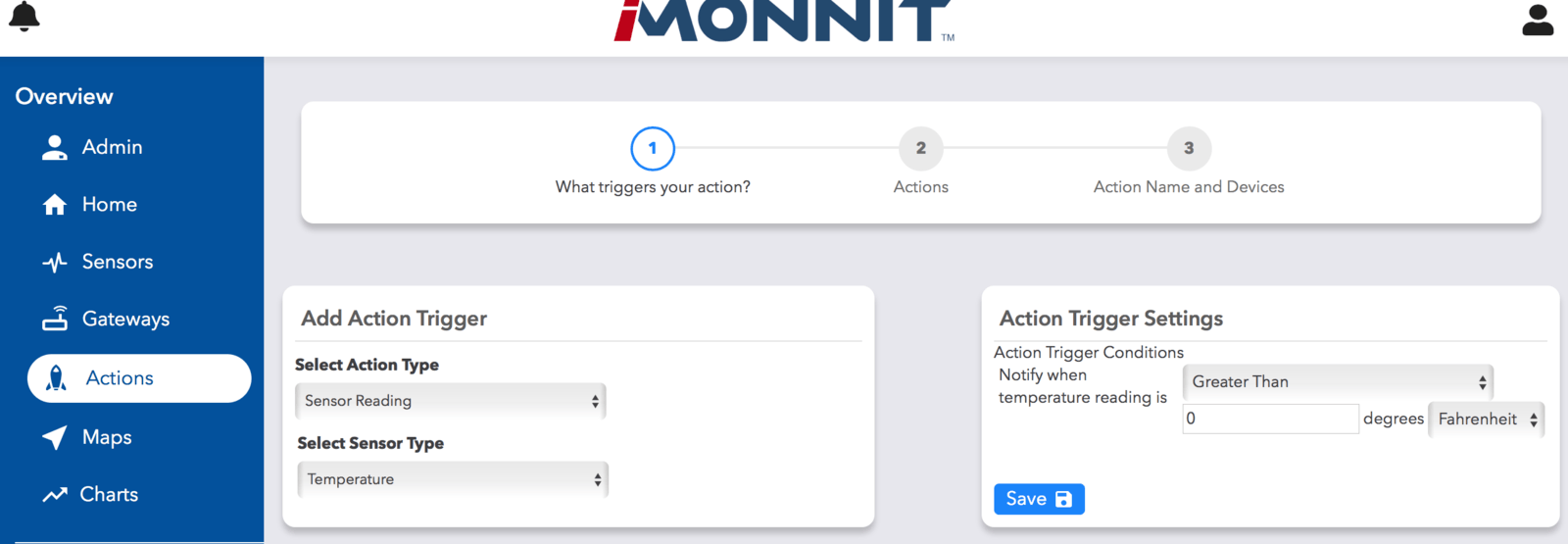 Add Action Page
