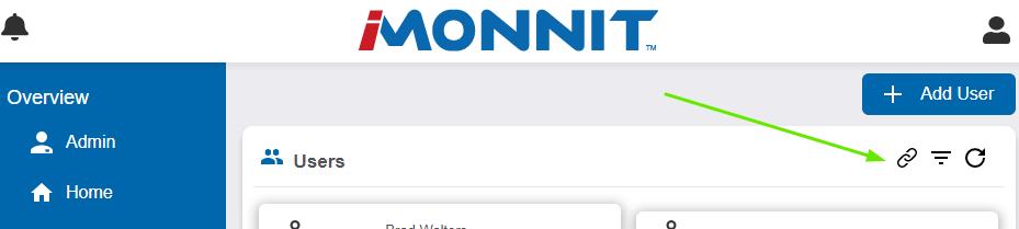 Link User button