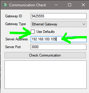 Communication Check on Server