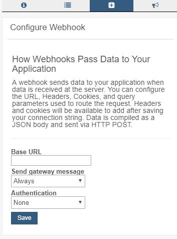 configure the webhook