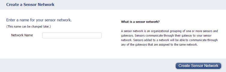 Creating a sensor network