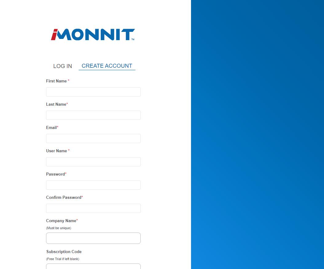 Enter Sub-Account Information