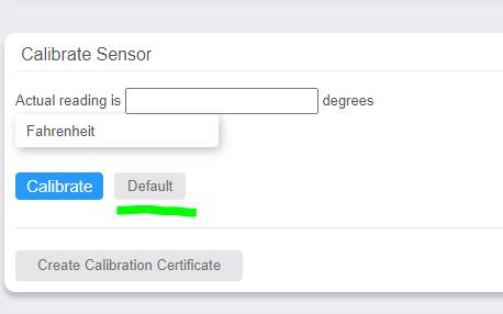 Default Calibration