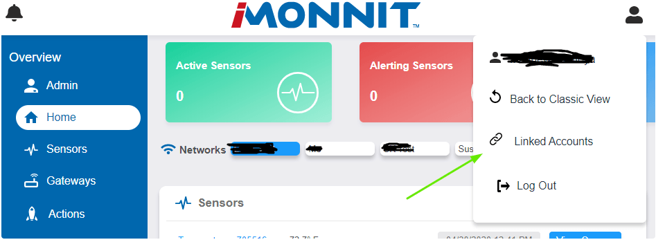Select Linked Accounts