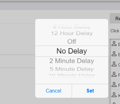 Set the Delay Period