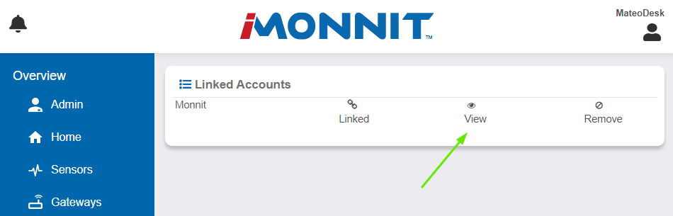 View Linked Account from Linked User