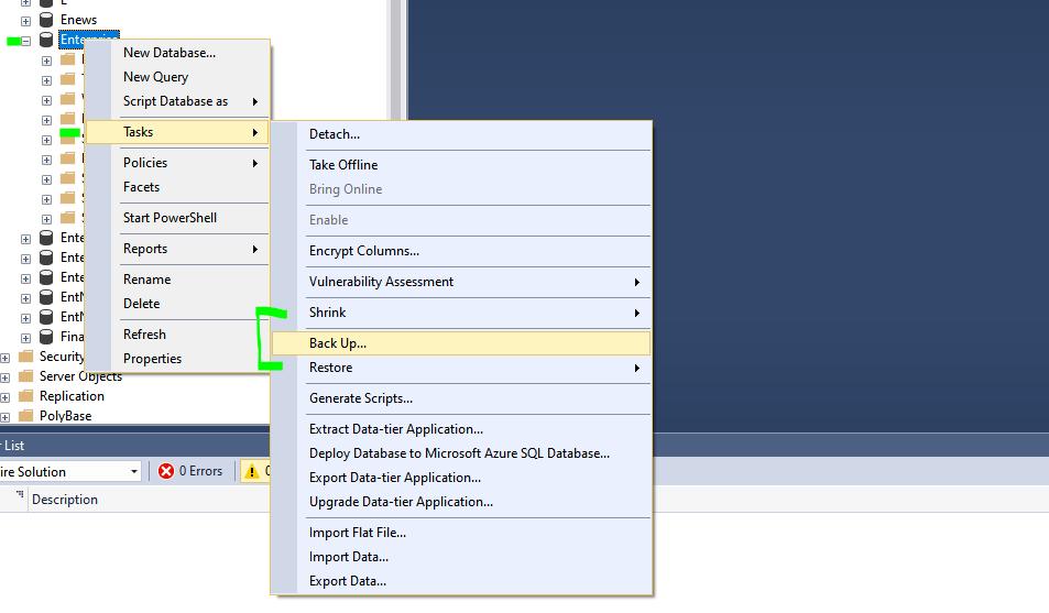 Backup SQL