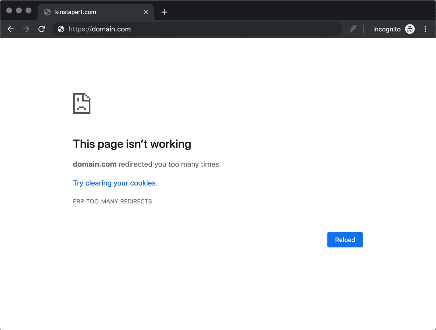 Chrome - Too Many Redirects