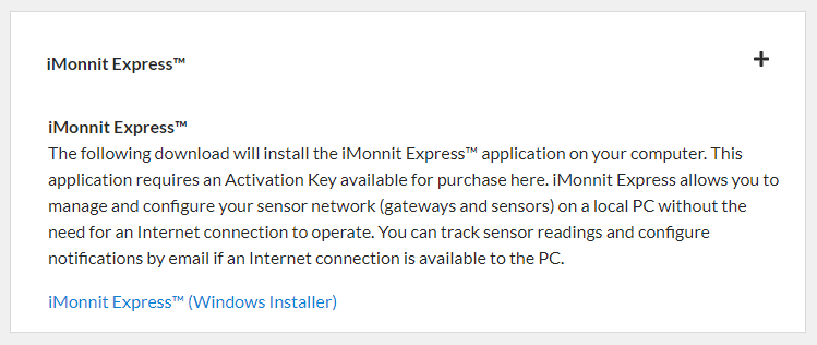 Download iMonnit Express