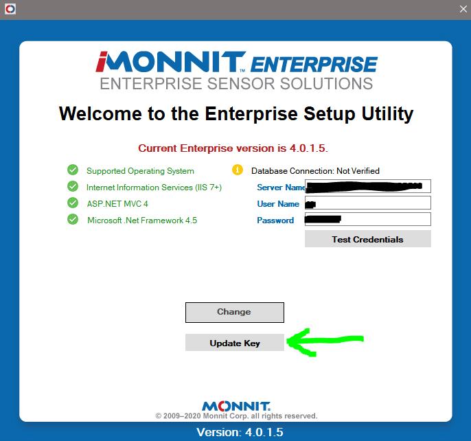 Launch Enterprise Configuration Utility