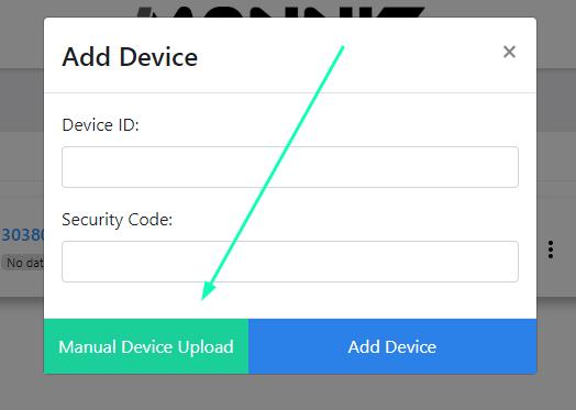 Manual Device Upload