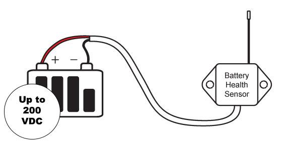 installing a batter health sensor