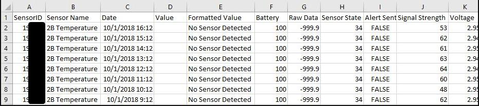 No Sensor Detected