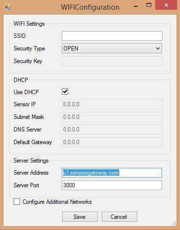 Wi-Fi Configuration Settings